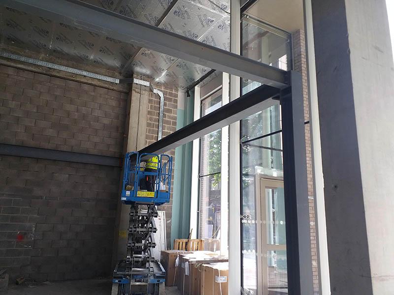 mezzanine floor frame three
